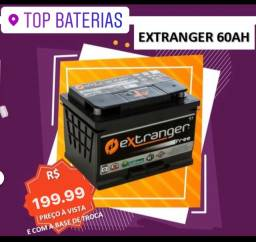 Bateria  60 ah free nova carro extranger