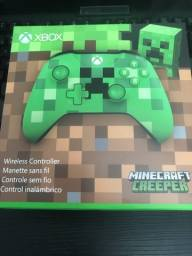 Controle Xbox One Xone Minecraft Creeper