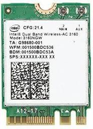 placa wifi interna notebook Intel Wireless-AC 3160NGW Dual Band 2.4 / 5Ghz Bluetooth