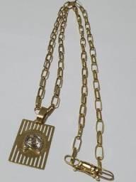Cordão de ouro 18k - cartier grosso