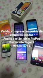 Telefones usados vários preços