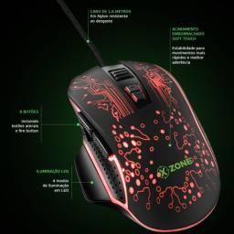 Mouse Ganer X-Zone LED 8 botões 3200DPI (ajustável) - Nota fiscal + 3 anos de garantia