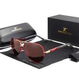 oculos Kingseven Aviador leve polarizado óculos de sol