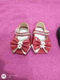 Sapato de bebê menina