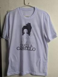 Camiseta Branca Camila Cabello M Tracklist Atrás