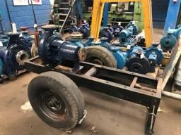Bomba irrigacao e abastecimento com carreta