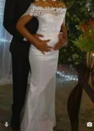Vestido de noiva usado só uma vez