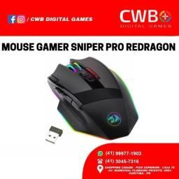 Mouse Gamer Redragon Sniper Pro M801P RGB,um ano de garantia com NF, loja fisica