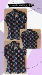 Camisa botão Chris | anjo | cacto