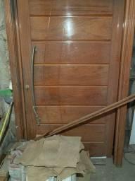 Porta de madeira completa 120x210