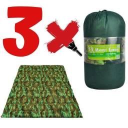 3 Colchonetes Casal Com Bolsa Para Carregar Camping Apto Casa Escritório
