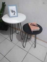 Conjunto de mesa lateral  PRONTA ENTREGA