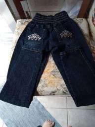 Calça jeans infantil nova tamanho 10