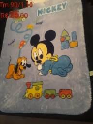 Cobertor + jogo de berço + bolsa mamãe bebê +rolo + mamadeiras novas