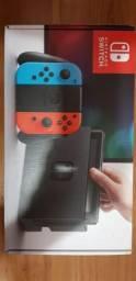 Nintendo Switch Neon Novo, na Caixa + 5 Jogos em Mídia Física
