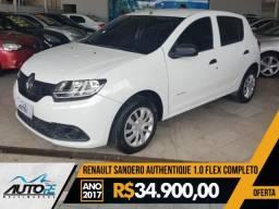 Renault Sandero Authentique Flex 1.0 Completo - 2017