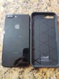 Iphone 7 plus preto Brilhoso 128 gb