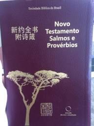 ?Novo testamento salmos e provérbios? português/ chinês