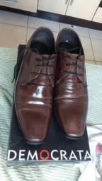 Sapato Social Democrata, n 41 solado de couro