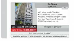 Apartamento com 3 suítes/ Ed. Riviera Rondonópolis MT