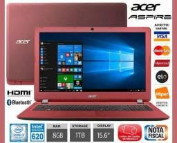"Notebook Acer Aspire Core i5, 8GB, HD 1TB, Tela 15.6"", W10, Novíss, Nota, Cx, Gar, Troco!"