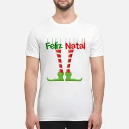Camisetas Feliz Natal Elfo Família Tal Pai mãe filho filha Casais namorados