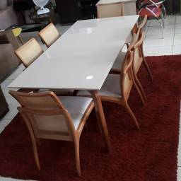 Mesa Columbia 1,80 × 0,90 c/ 6 cadeiras