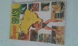 Álbum de figurinhas antigo Super Brasil