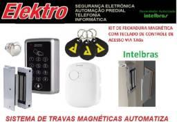 Controle_Acesso fechadura.Eletroímã - Intelbras - Empresas e Condomínios