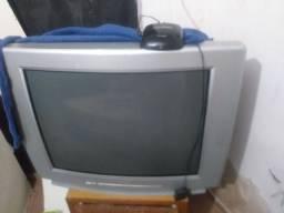 Tv de tubo com Atena controle cabo