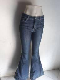 Calça boca de sino Jeans