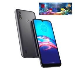 "Smartphone Motorola E6S Cinza Titanium, Tela 6.1"", 4G"