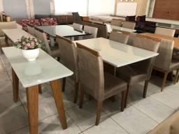 Mesa de jantar para sala ou cozinha nova completa