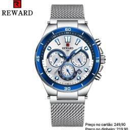 Relógio masculino importado original Reward cronógrafo super premium