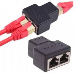 Adaptador Duplicador para cabo de rede Rj45