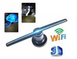Holograma Display Projetor 3d Led Luz Imagens Com Wifi