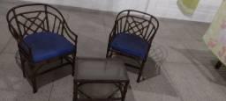 Conjunto de Vime com 2 Cadeiras