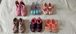 Lote de 6 calçados menina