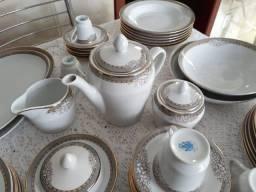 Aparelho de Jantar, Café, Chá e Bolo p/ 06 pessoas - Porcelanas Germer