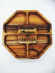 Petisqueira 30cm em madeira Teca