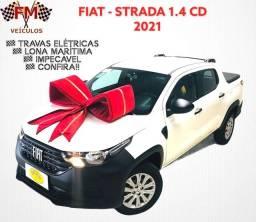 FIAT - STRADA 1.4 CD AR TRAVAS ELÉTRICAS LONA MARÍTIMA IMPECÁVEL!!