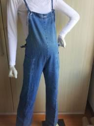 Macacão  jeans gestante