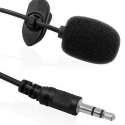 Microfone de Lapela c/ Redução de Ruído Pc Smartphone Notebook 1.5mt