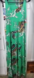 Vestido Longo Zinzane (verde estampado)
