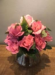 Flores artificiais rosê
