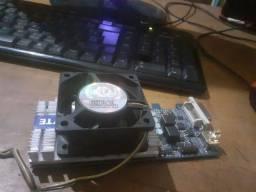 Placa de vídeo GT 210 1GB de memória ddr3 da gigabyte