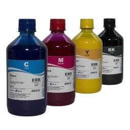 Kit de Quatro frascos de 100 ml, ciano, amarelo, magenta, preto, para impressoras.