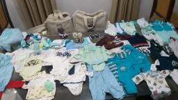 Combo: Roupinhas de recém nascido, bolsas, sapatos, luvas, meias e gorras.