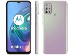 Smartphone Motorola Moto G10 64GB Branco Floral - 4GB RAM Tela 6,5?