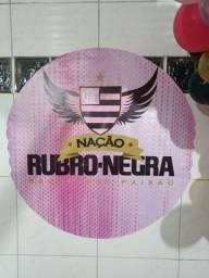 Painel Para Festa - Flamengo Rosa 1,00x1,00mt<br><br>